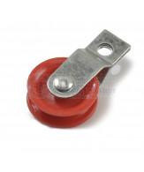 Verzinkte katrollen / gedeelde beugel / rode polyamide schijf