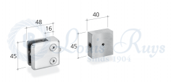 Glasplaathouder + adapter